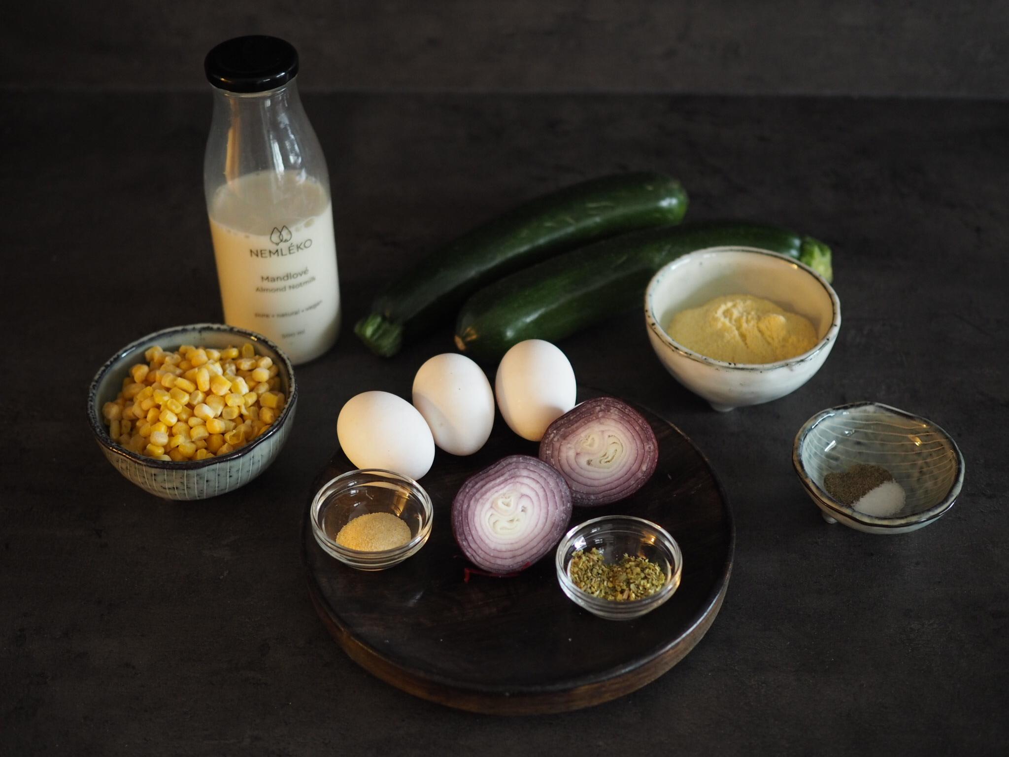 kukuřično cuketové placky ingradience
